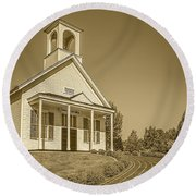 The Schoolhouse Hdr Round Beach Towel