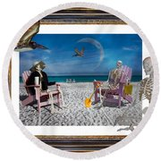 The Scientist's Vacation Round Beach Towel