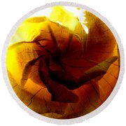 The Scorched Rose Round Beach Towel