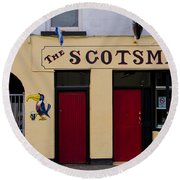 The Scottsmans Bar - Donegal Ireland Round Beach Towel