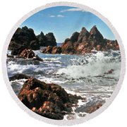 The Sea Abounds Round Beach Towel