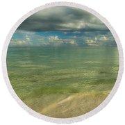 The Sea And The Sky Round Beach Towel