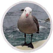 The Seagull 2 Round Beach Towel