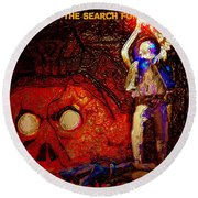 The Search For A Macguffin Round Beach Towel
