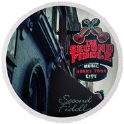 The Second Fiddle Round Beach Towel