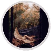The Secret Forest Round Beach Towel