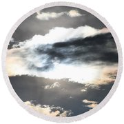 The Secret Sky Round Beach Towel