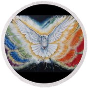 The Seven Spirits Series - The Spirit Of The Lord Round Beach Towel