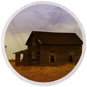 The Shambles Of Dreams Gone By Round Beach Towel by Jeff Swan
