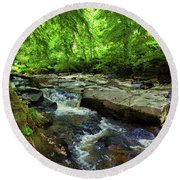 The Shankhill River Shortly Round Beach Towel