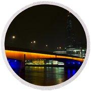 The Shard And London Bridge Round Beach Towel