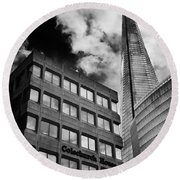 The Shard From Tooley Street Round Beach Towel