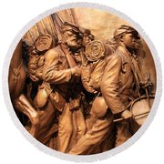 Saint Gaudens -- The Shaw Memorial's Right Side Round Beach Towel