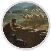 The Sheepstealer Round Beach Towel