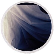 The Sheets In The Morning  Round Beach Towel