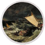 The Shipwreck Round Beach Towel