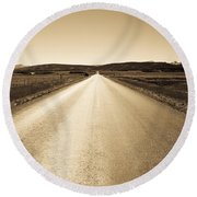 The Side Road 2 Round Beach Towel