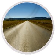 The Side Road Round Beach Towel