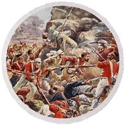 The Siege Of Delhi, 1857 Storming Round Beach Towel