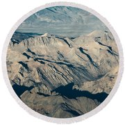 The Sierra Nevadas Round Beach Towel