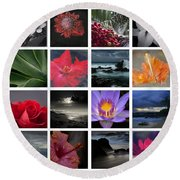 The Silence Of Time Round Beach Towel