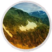 The Silent Mountains Round Beach Towel