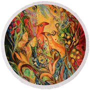 The Silent Song Round Beach Towel