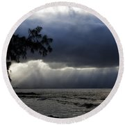 The Silver Lining Round Beach Towel
