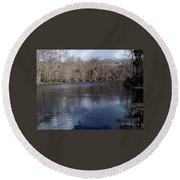 The Silver River Round Beach Towel