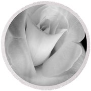 The Silver Rose In Portrait Round Beach Towel