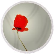 The Simple Poppy Round Beach Towel