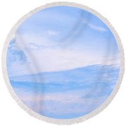 The Sky's The Limit Round Beach Towel
