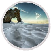 The Sleeping Giants Sea Lion Round Beach Towel