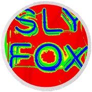 The Sly Fox Round Beach Towel