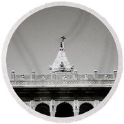 The Small Temple Round Beach Towel