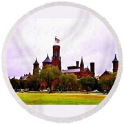 The Smithsonian Round Beach Towel by Bill Cannon