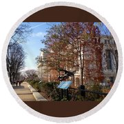 The Smithsonian Natural History Museum Washington Dc Round Beach Towel