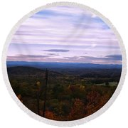 The Smokey Mountains From Hanging Rock State Park Round Beach Towel