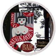 The Smugkroen Bar Round Beach Towel