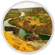 The Snake River  Round Beach Towel