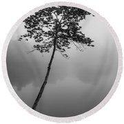 The Solitary Tree Round Beach Towel