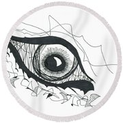 The Sorcerer's Divine Dance Of Infinite Divine Light Round Beach Towel