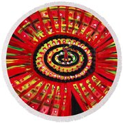 The Soul Of The Flower Round Beach Towel