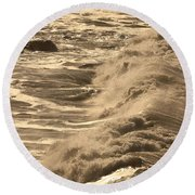 The Sound And The Fury Round Beach Towel