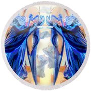 The Sounds Of Angels Round Beach Towel