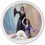 The Source Round Beach Towel by Shelley Irish