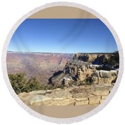 The South Rim In The Winter Round Beach Towel