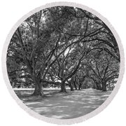 The Southern Way Bw Round Beach Towel