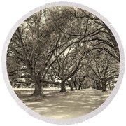 The Southern Way Sepia Round Beach Towel by Steve Harrington