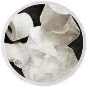 The Spare Rolls 1 - Toilet Paper - Bathroom Design - Restroom - Powder Room Round Beach Towel